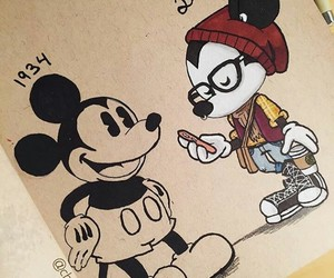 art, mickey, and mickey mouse image