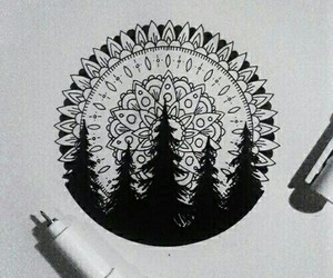 drawing, mandala, and art image