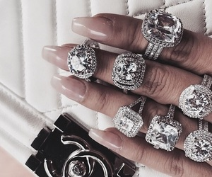 luxury, nails, and rings image