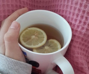 drink, flu, and lemon image