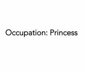 princess and occupation image