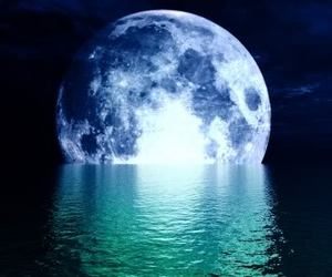 moon and water image