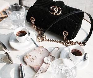 fashion, coffee, and gucci image