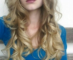 blond curls hair image