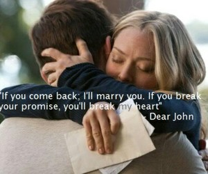 dear john, love, and movie image