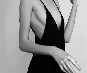 dress, fashion, and black and white image