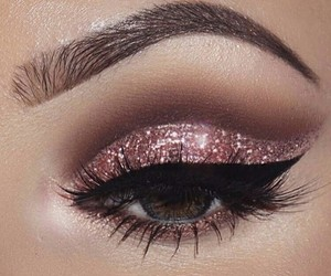 makeup, beauty, and glitter image