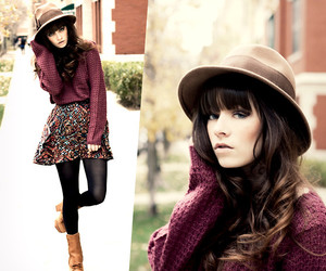 beauty, cardigan, and fashion image