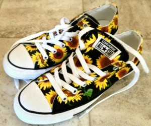 converse and sunflower image