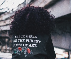 art, black girls, and roses image