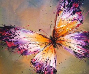 art, beautiful, and butterfly image