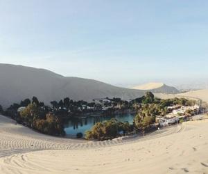 desert, nature, and lake image