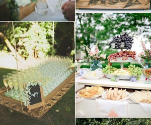 wedding, garden wedding, and wedding drinks image