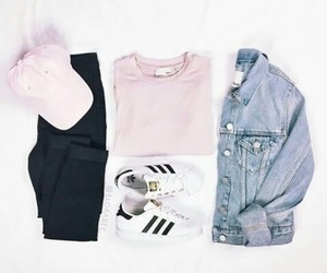 clothes, pink, and outfit image