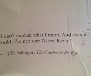 quotes, book, and the catcher in the rye image