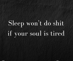 black and white, sleep, and quote image