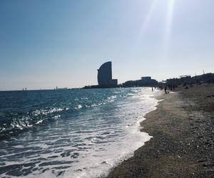 amazing, Barcelona, and beach image