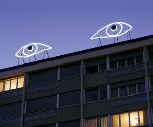 eyes, neon, and grunge image