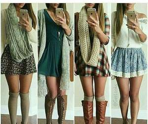 fall, girls, and outfits image