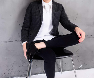 androgynous, fashion, and formal image