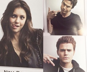 Nina Dobrev and paul wesley image