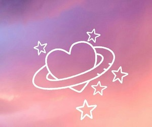 wallpaper, heart, and stars image