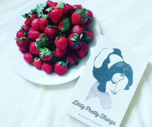 poetry, strawberry, and michaelfaudet image