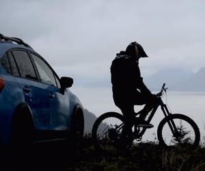 bike, car, and dark image