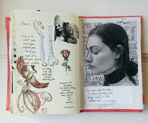 art, drawing, and notebook image
