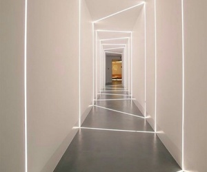 hallway, neon, and lights image