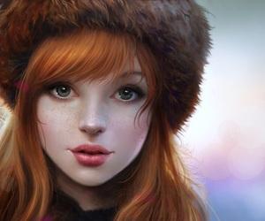 digital art, blue eyes, and fan art image