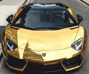 car, cars, and gold image