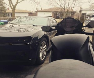 black, car, and Honda image