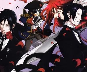 anime, ciel, and black butler image