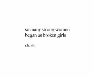 quotes, girl, and strong image