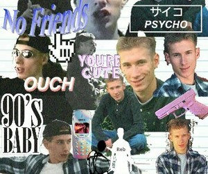 boy sexy, collages, and columbine image