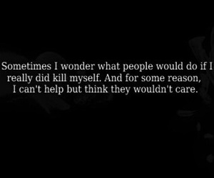 suicide, care, and quote image