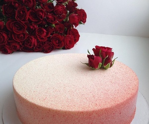 rose, cake, and flowers image
