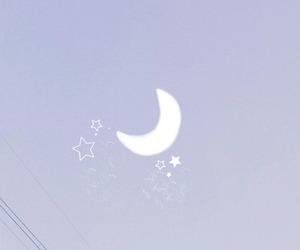 moon, purple, and kawaii image
