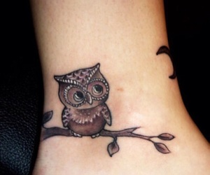 adorable, owl, and tattoo image