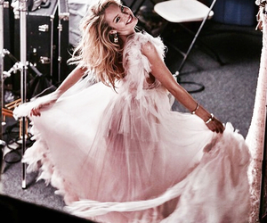 dress, pink, and rose gold image