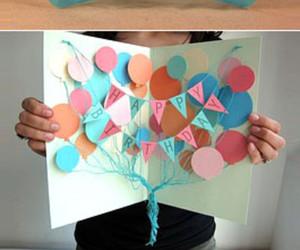 birthday, diy, and card image