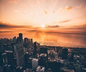 buildings, city, and ocean image