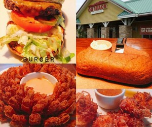 burger, food, and shrimp image