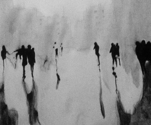 art, black and white, and city image