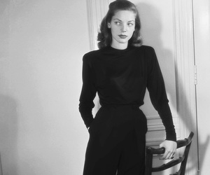 1945, classic, and Lauren Bacall image