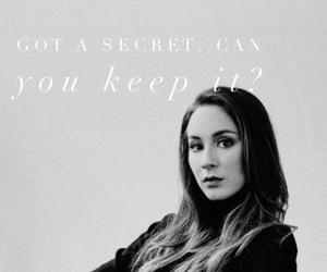 b&w, quote, and troian bellisario image