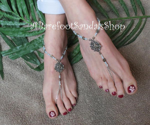 barefoot, etsy, and beach image