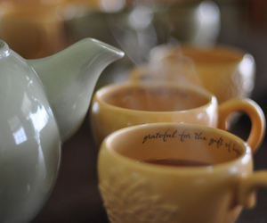 grateful, tea cup, and gratitude image