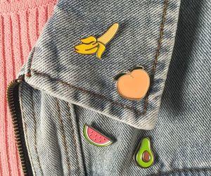 banana, fruit, and peach image